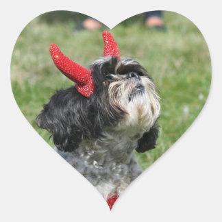 Halloween Shih Tzu dog Heart Stickers