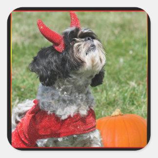 Halloween Shih Tzu Square Sticker