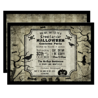 Halloween Silhouette Costume Party Invitation