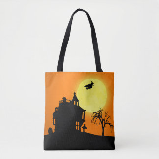 Halloween Silhouette Landscape All-Over-Print Tote