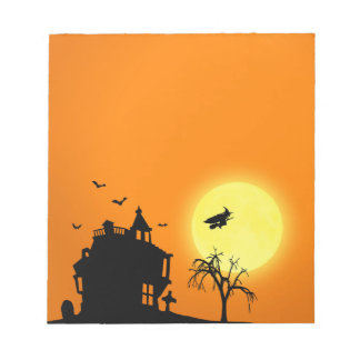Halloween Silhouette Landscape - Notepad