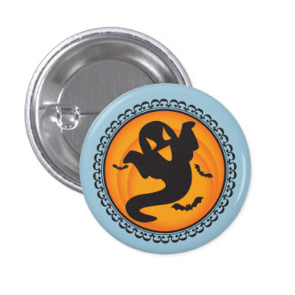 Halloween Silhouettes Ghost Badge