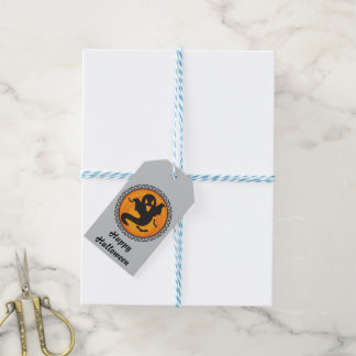 Halloween Silhouettes Ghost Gift Tag
