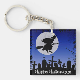 Halloween Single-Sided Square Acrylic Key Ring