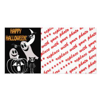 Halloween Skeleton Animals Gang Card