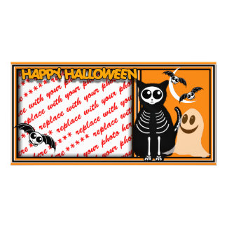 Halloween Skeleton Animals Gang Photo Card Template