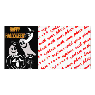 Halloween Skeleton Animals Gang Photo Card