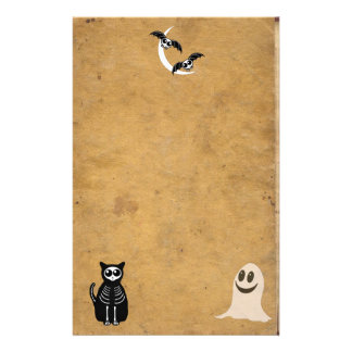 Halloween Skeleton Animals Gang Stationery