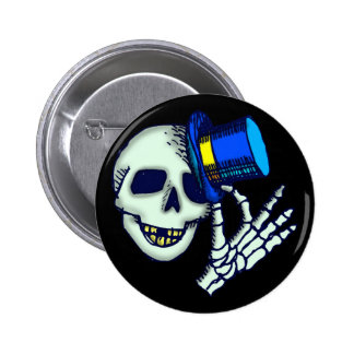Halloween Skeleton Buttons