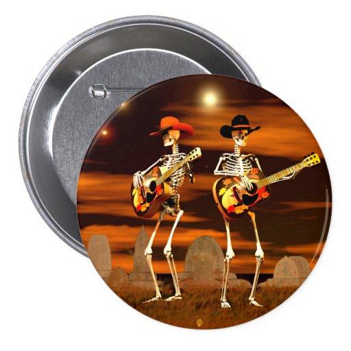 Halloween Skeleton Concert Pins