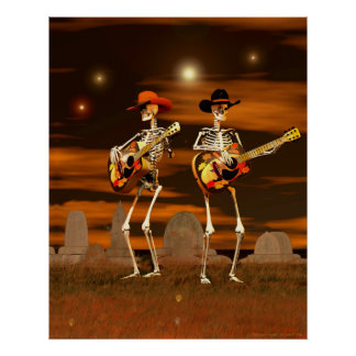 Halloween Skeleton Concert Poster