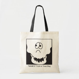 Halloween Skeleton Head Trick or Treat Bag