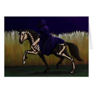 Halloween Skeleton Horse & Rider Card