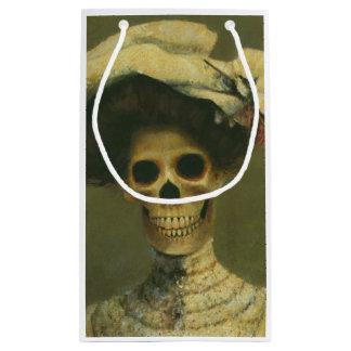 Halloween Skeleton Lady Gift Bag Small Gift Bag