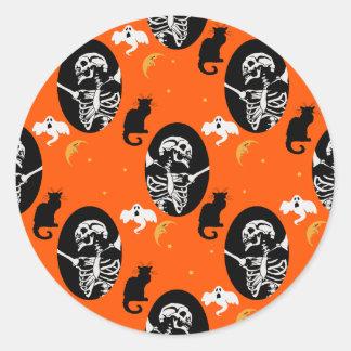 Halloween Skeleton Pattern Stickers
