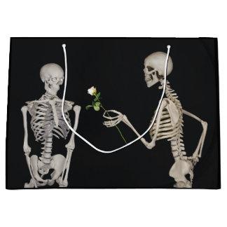 Halloween Skeleton Romance Large Gift Bag