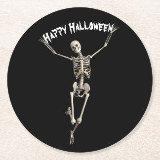 Halloween Skeleton Round Paper Coaster