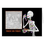 Halloween Skeleton Treats (photo frame) Cards