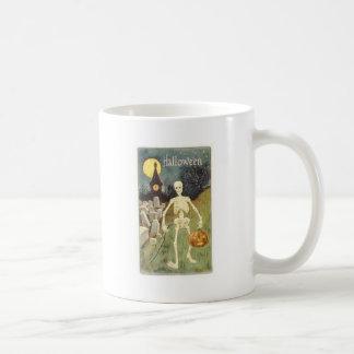 Halloween Skeleton with Jackolantern Coffee Mugs
