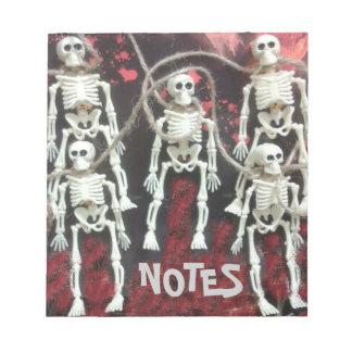 Halloween Skeletons Notepad