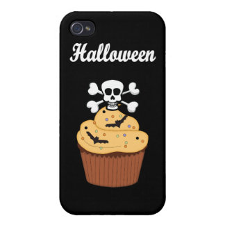 Halloween Skull and Bats iPhone 4 Cover