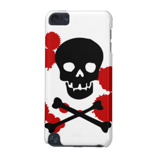 Halloween Skull and Blood Splatter iPod Touch Case