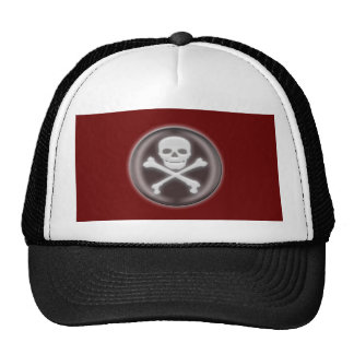 Halloween Skull and cross-bones Trucker Hats