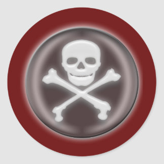 Halloween Skull and cross-bones Round Sticker