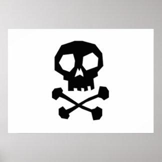 Halloween Skull and Crossbones Poster