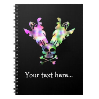 Halloween Skull and Ghosts Skull and Crossbones Notebook