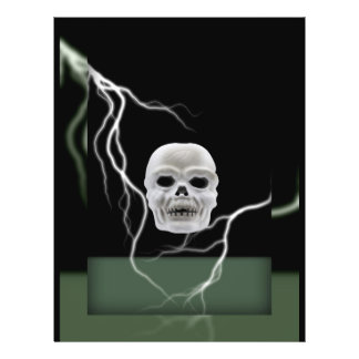 Halloween Skull and Lighting Card 21.5 Cm X 28 Cm Flyer