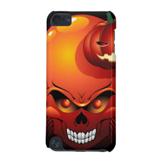 Halloween Skull and Pumpkin iPod Touch case