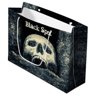 Halloween Skull Black Spot Pirate Party Large Gift Bag