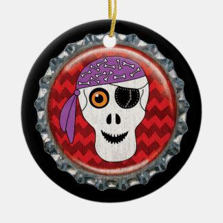 Halloween Skull Bottle Cap Image Christmas Ornament