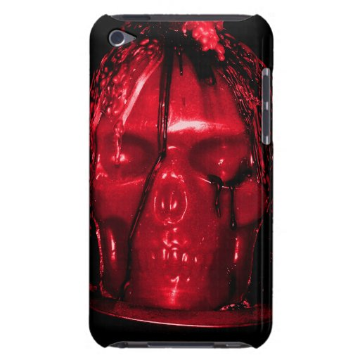 Halloween Skull Candle (Red) Barely There iPod Case