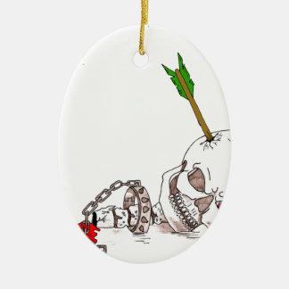 Halloween Skull Christmas Ornament