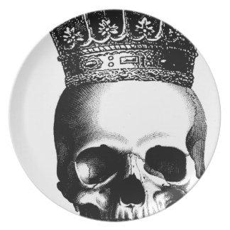 Halloween Skull Crown Royal Plate