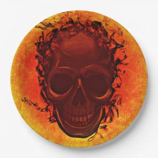 Halloween skull paper plate