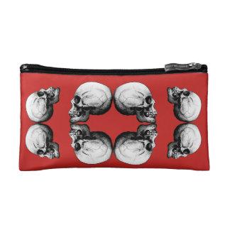 Halloween Skull Protection Bones Profile Round Cosmetic Bag
