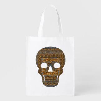 Halloween Skull Reusable Grocery Bag
