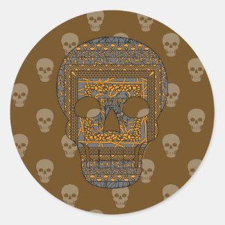Halloween Skull Sticker