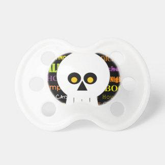 Halloween Skull Subway Art Baby Pacifier