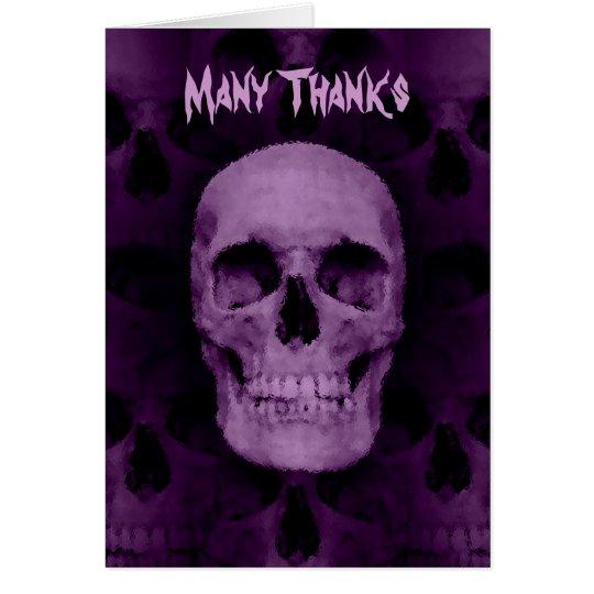 Halloween skull thanks card
