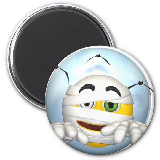 halloween Smiley 6 Cm Round Magnet