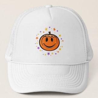Halloween Smiley Pumpkin Trucker Hat