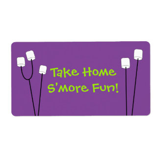 Halloween S'mores Party Favor Bag Tag