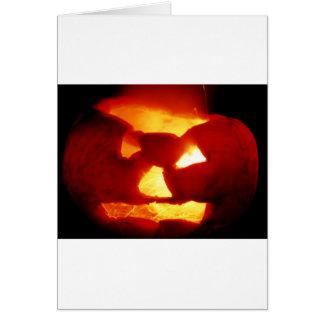 Halloween  sparky pumpkin greeting card