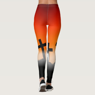 Halloween Special with Crosses Leggings