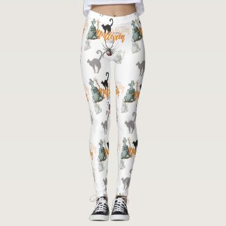 Halloween Spider Grave Leggings