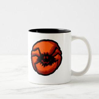 Halloween Spider Jack O Lantern Mugs